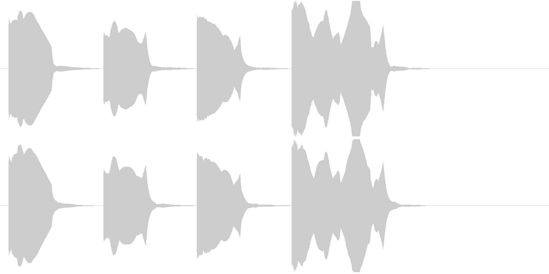 スタート合図(3カウント)-ydxの未再生の波形