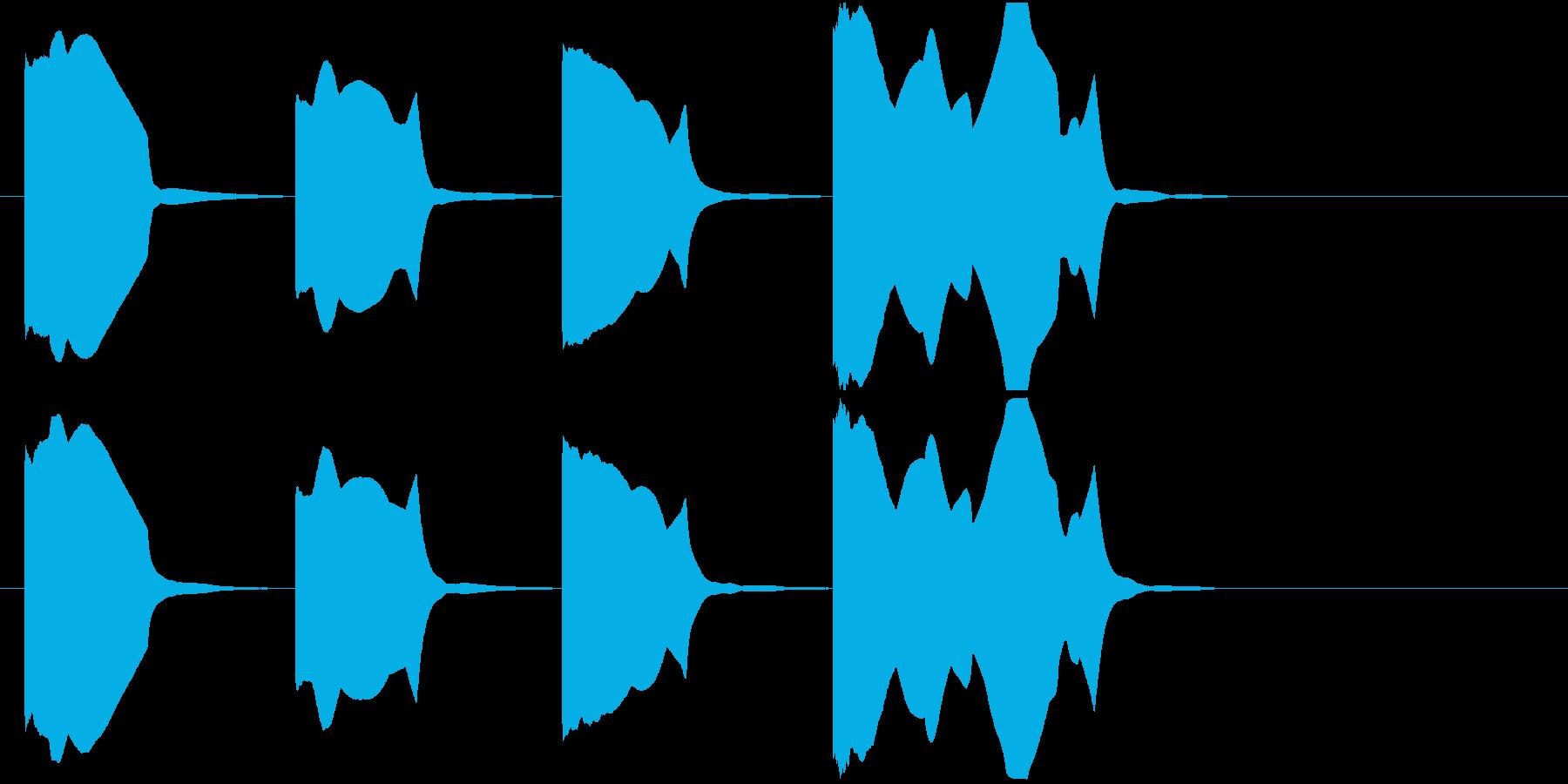 スタート合図(3カウント)-ydxの再生済みの波形