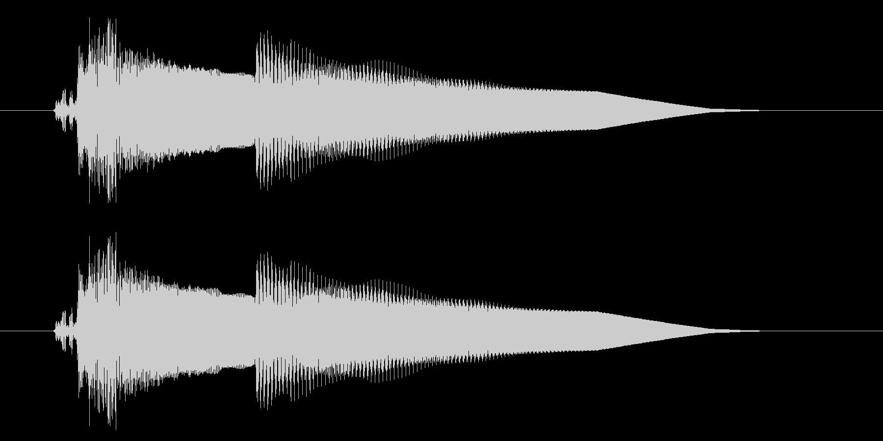 改札 アラーム01-1(音色1 フラップの未再生の波形