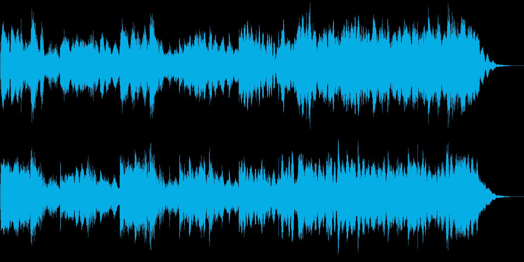 ハロウィン系BGM ピアノ主体のジングルの再生済みの波形
