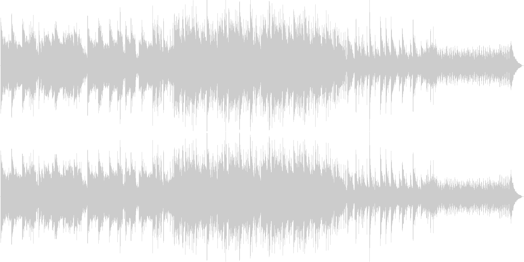素朴なイメージのBGMの未再生の波形