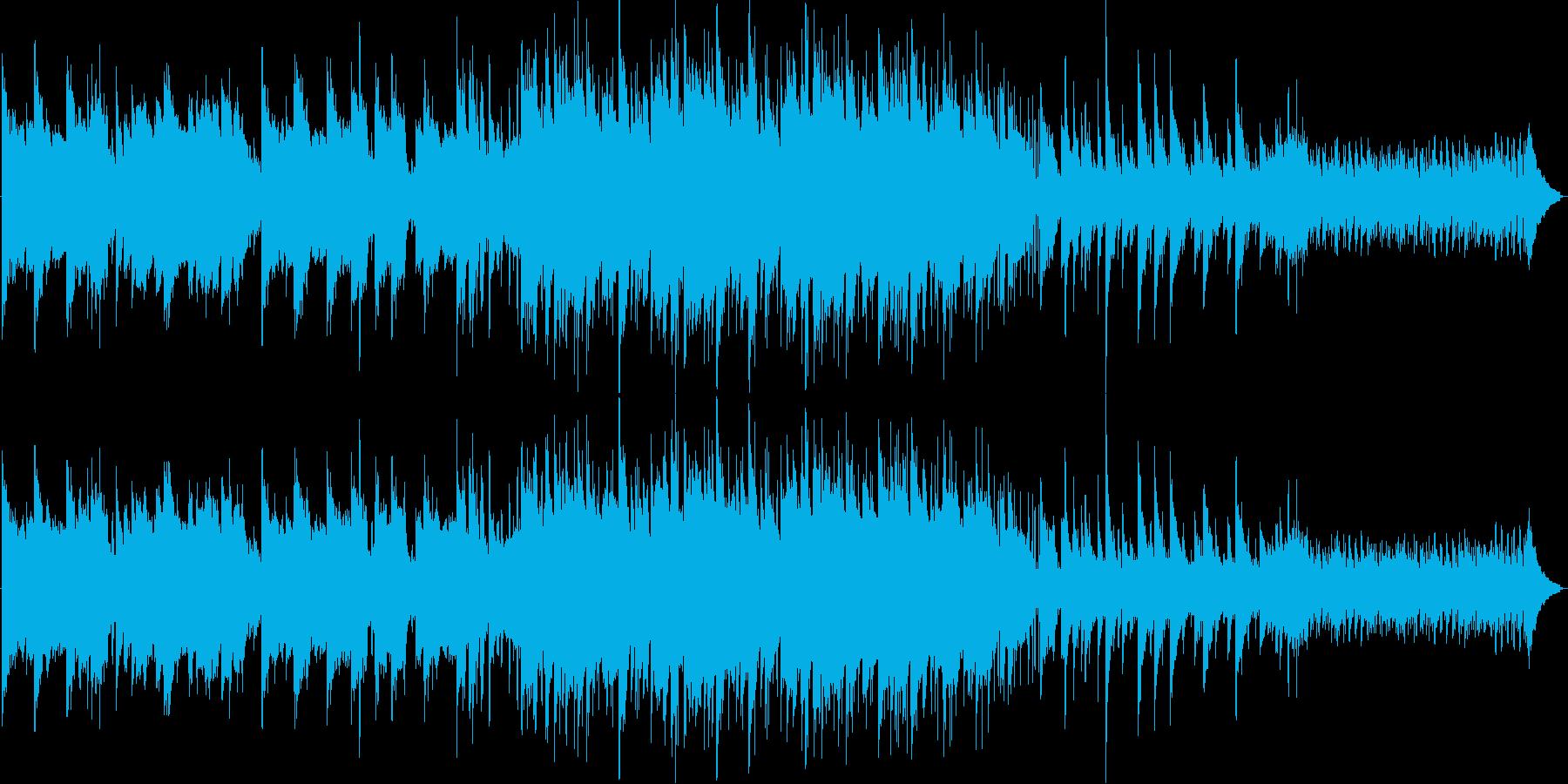 素朴なイメージのBGMの再生済みの波形