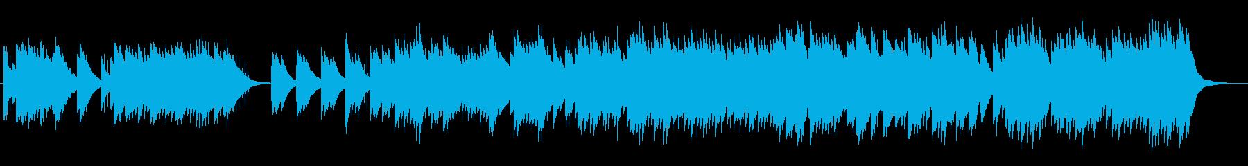 混沌としたオルゴールサウンドの再生済みの波形
