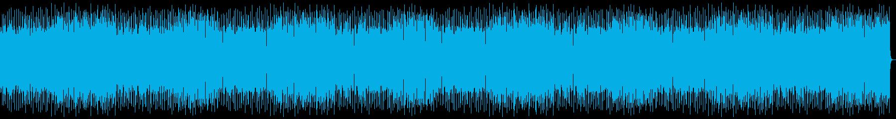 心地よいスローテンポな音楽の再生済みの波形