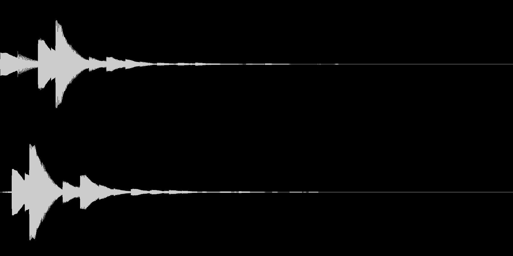 システム音21_シンセDZの未再生の波形