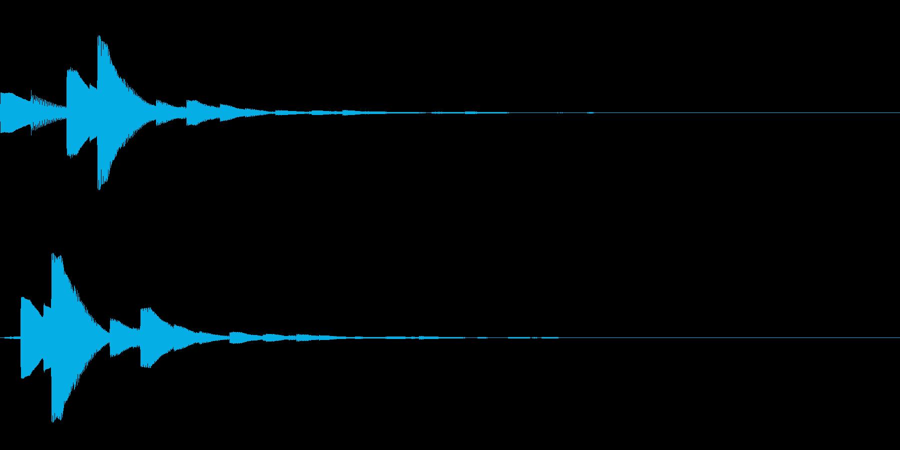 システム音21_シンセDZの再生済みの波形