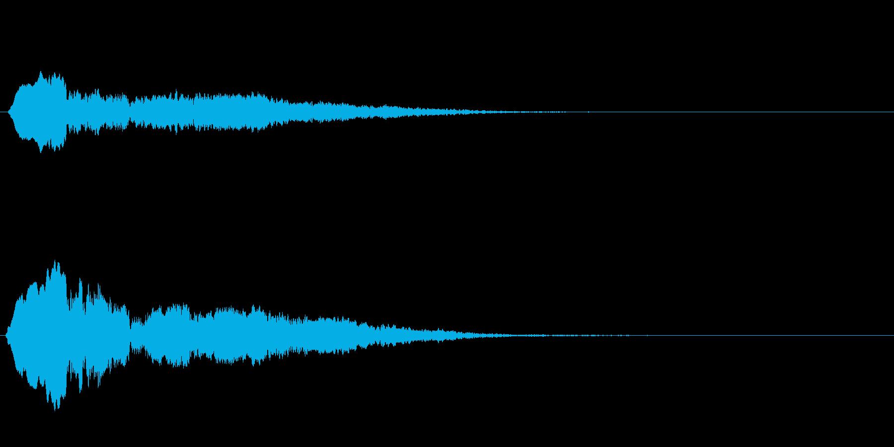 おばけ ひゅう~の再生済みの波形