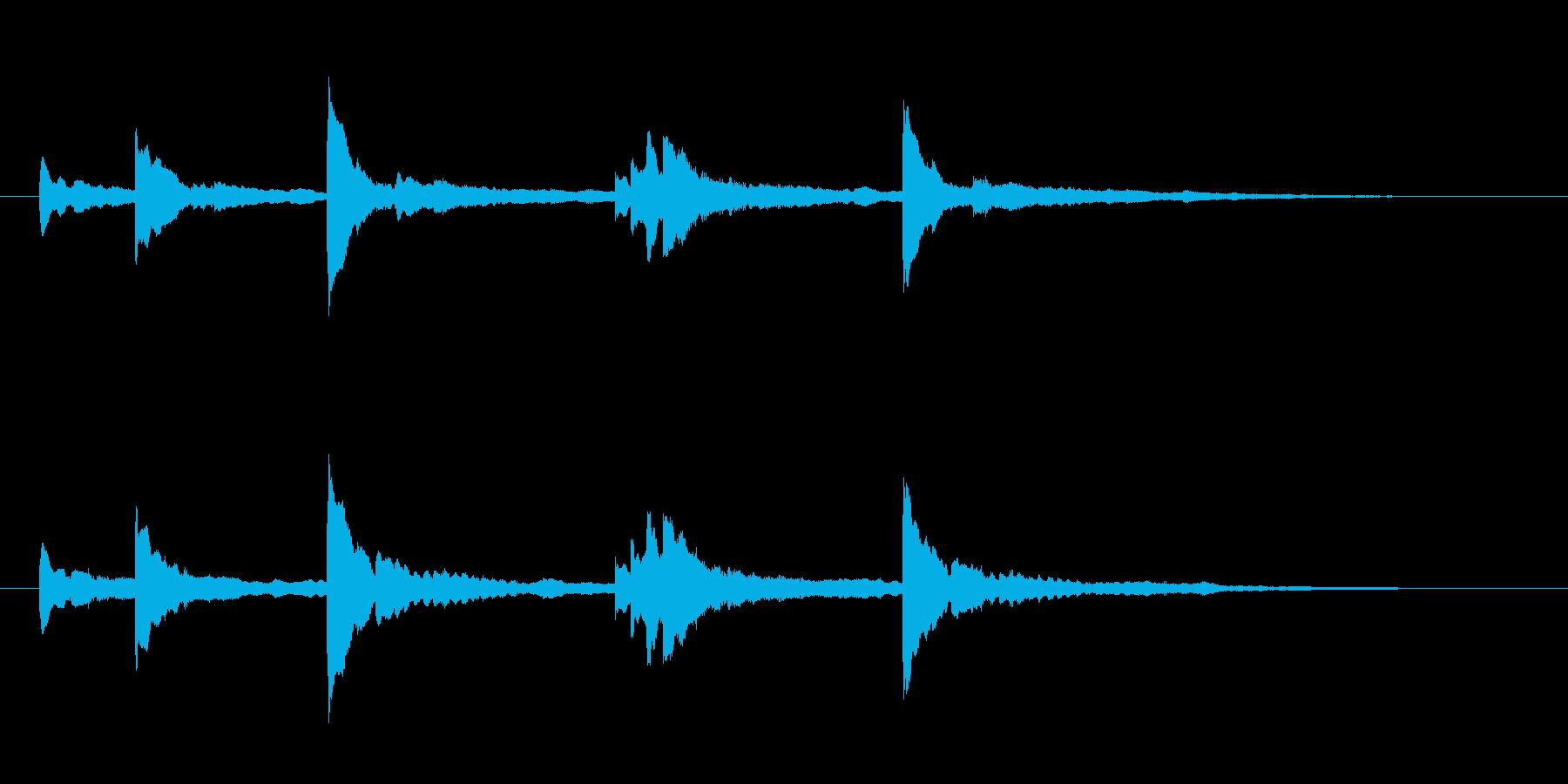 氷の洞窟or神聖な場所に入った時の音の再生済みの波形