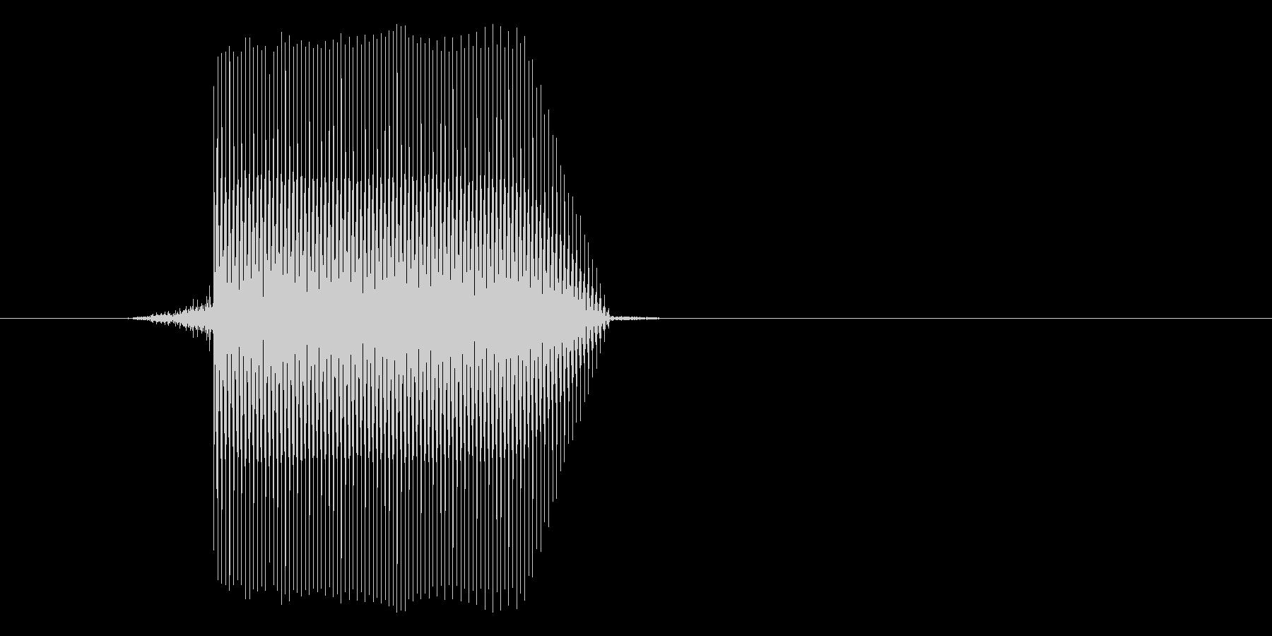 ゲーム(ファミコン風)セレクト音_012の未再生の波形
