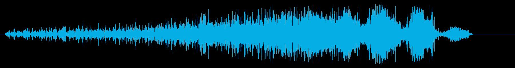 ギュルギュル(フェードイン)の再生済みの波形