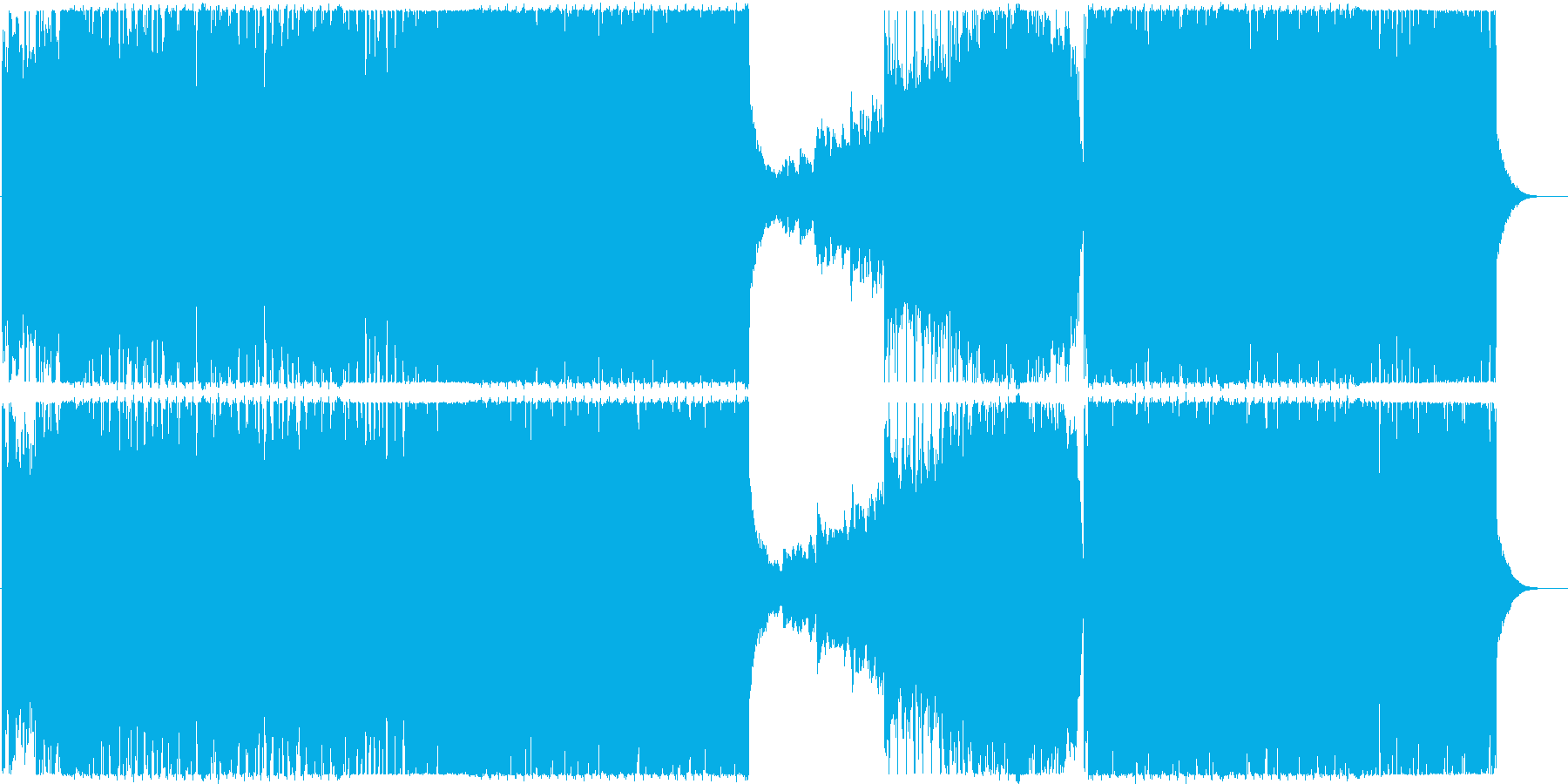 エレクトロベースのブレイクスの再生済みの波形