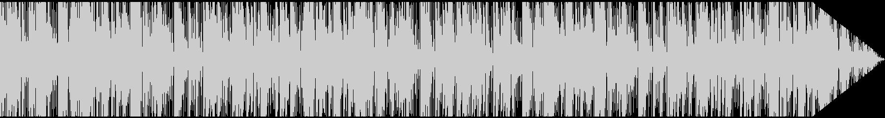 尺八と太鼓からなる音楽の未再生の波形