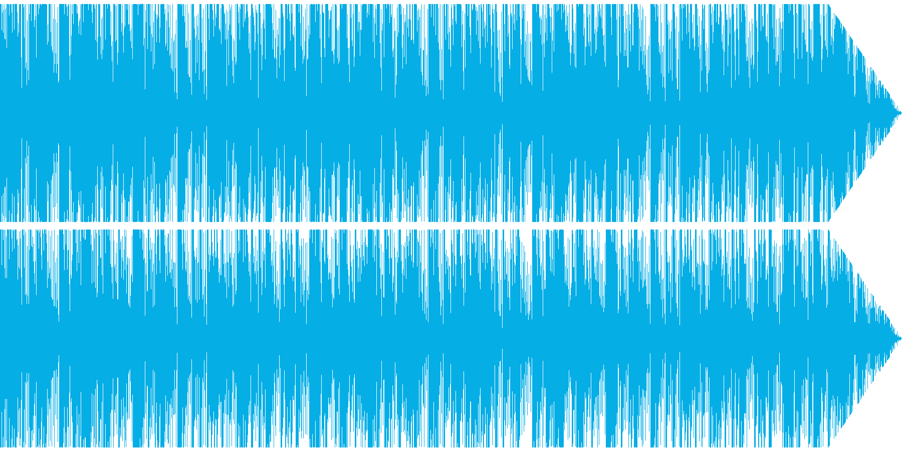 尺八と太鼓からなる音楽の再生済みの波形