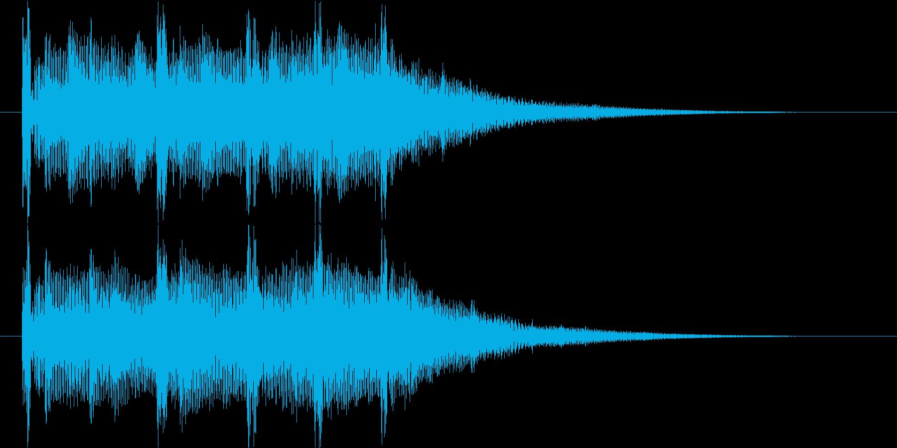 クリスタルデジタルな映像オープニングロゴの再生済みの波形