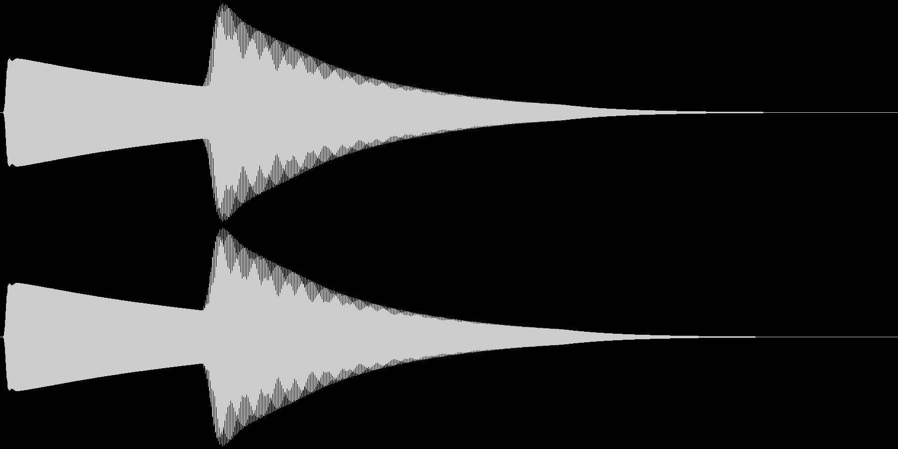 ベアベル (響く、余韻)の未再生の波形