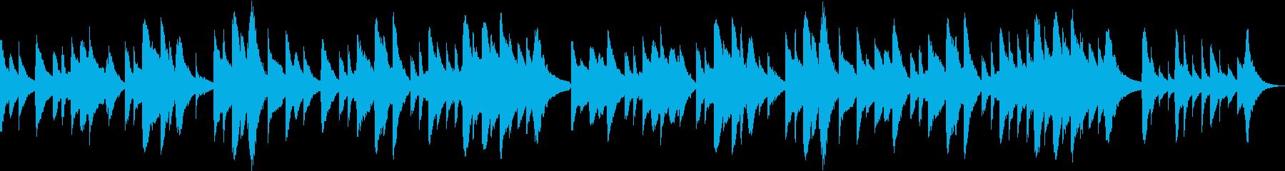 穏やかなオルゴールバラード(ループ可)の再生済みの波形