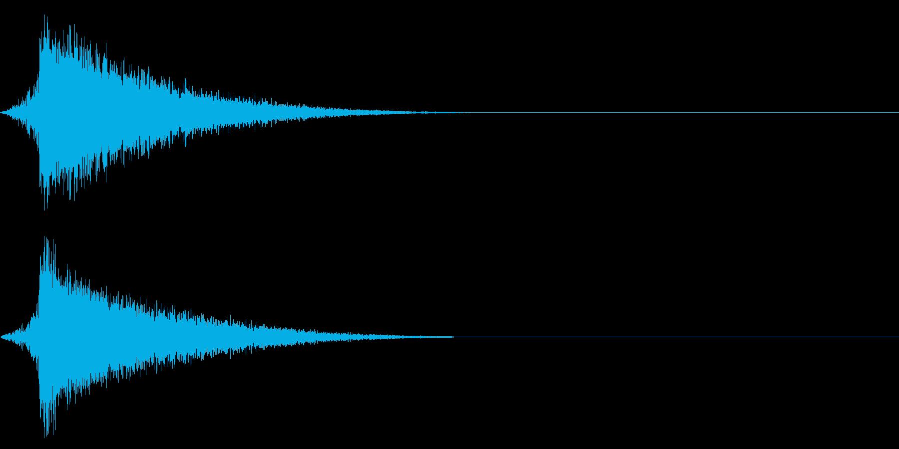 ホラー系アタック音94の再生済みの波形
