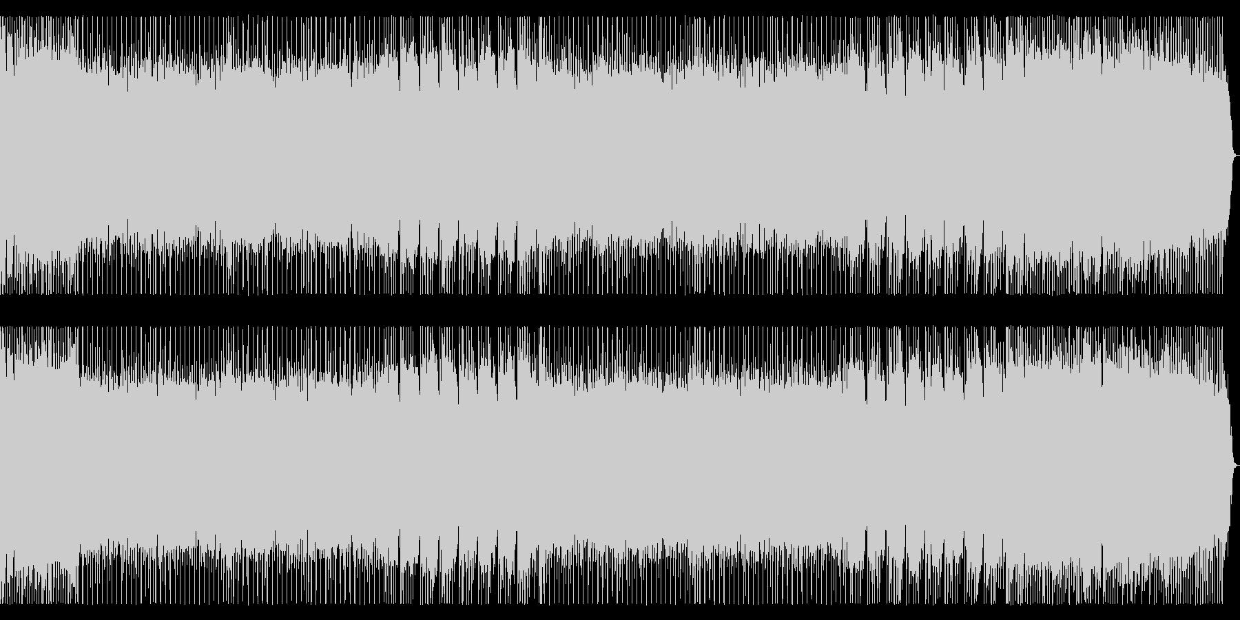 ポップで軽快なメタルBGM 宇宙空間の未再生の波形