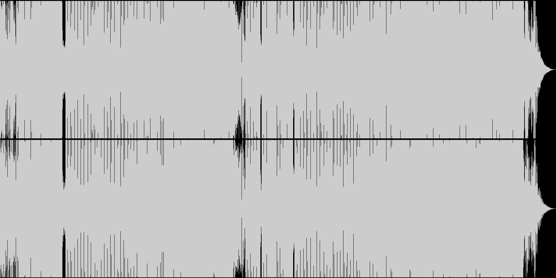 ほのぼのしたユーモラスなEDMの未再生の波形