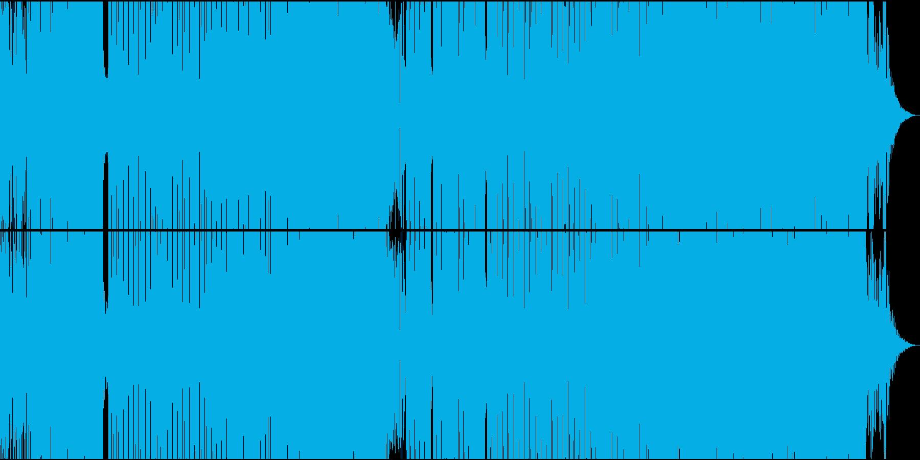 ほのぼのしたユーモラスなEDMの再生済みの波形