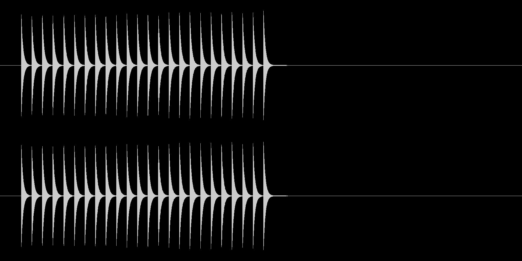 ファミコン ゲームの上昇音の未再生の波形