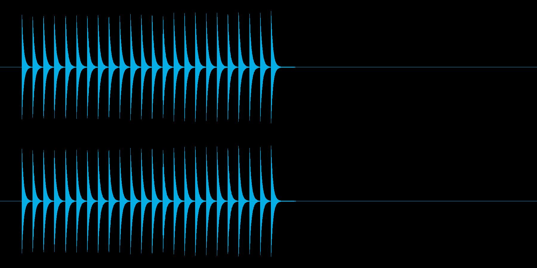 ファミコン ゲームの上昇音の再生済みの波形