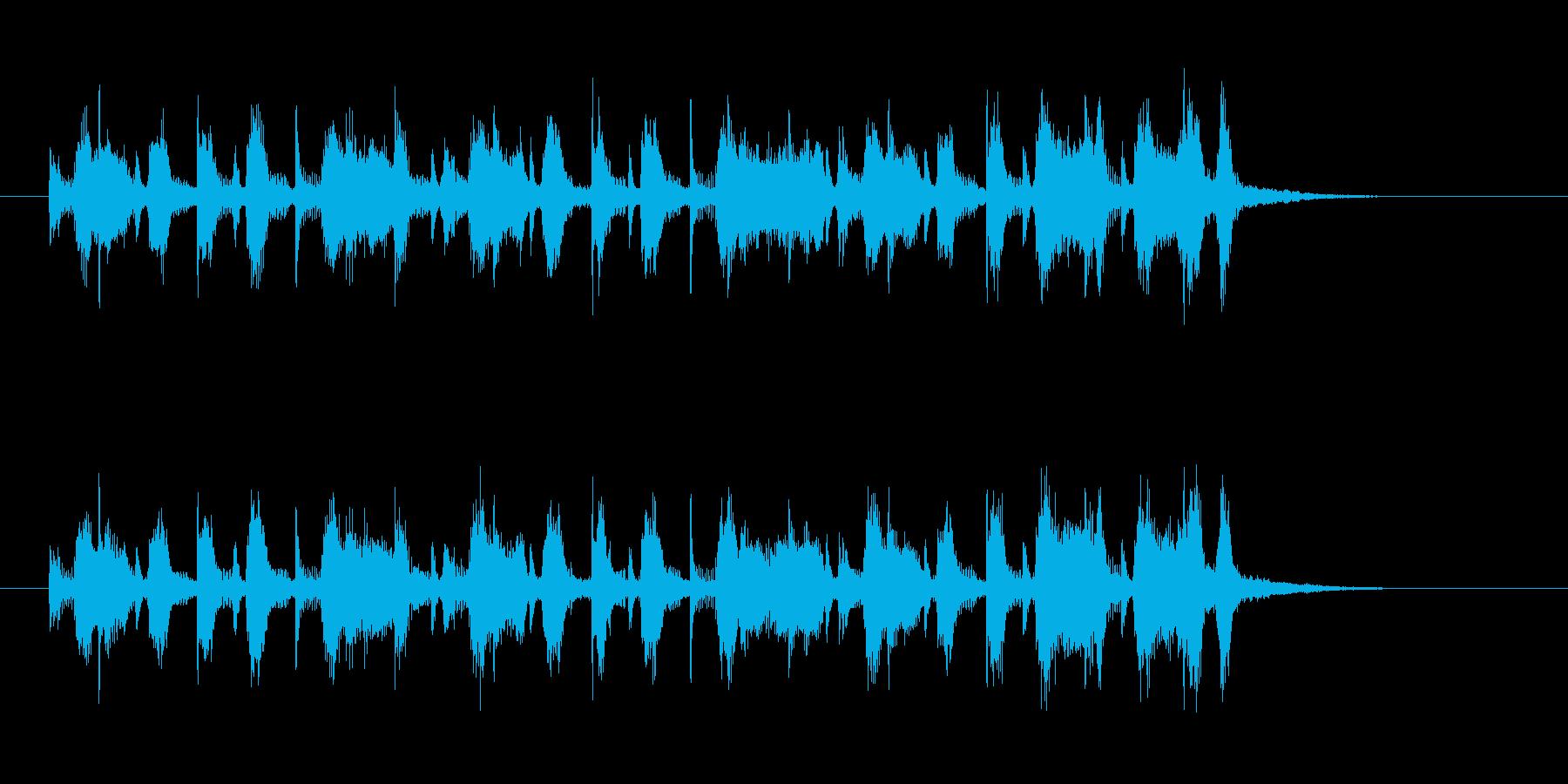 大人なミディアムテンポのジャズのジングルの再生済みの波形