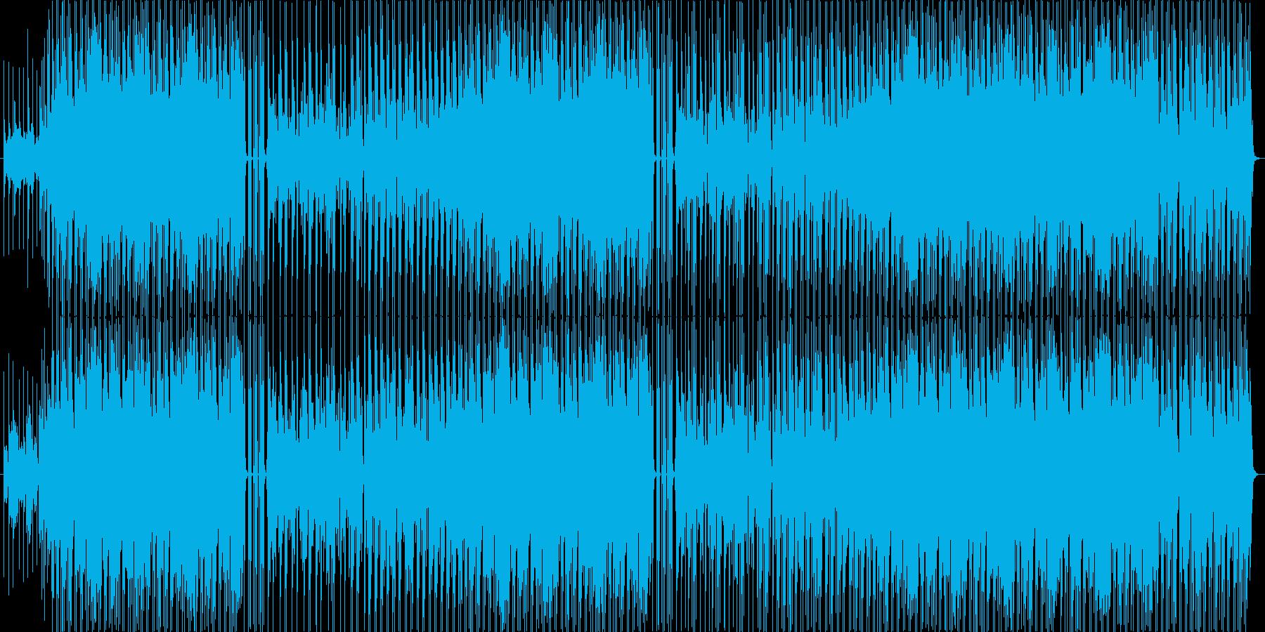 ポジティブな雰囲気のポップスBGMの再生済みの波形