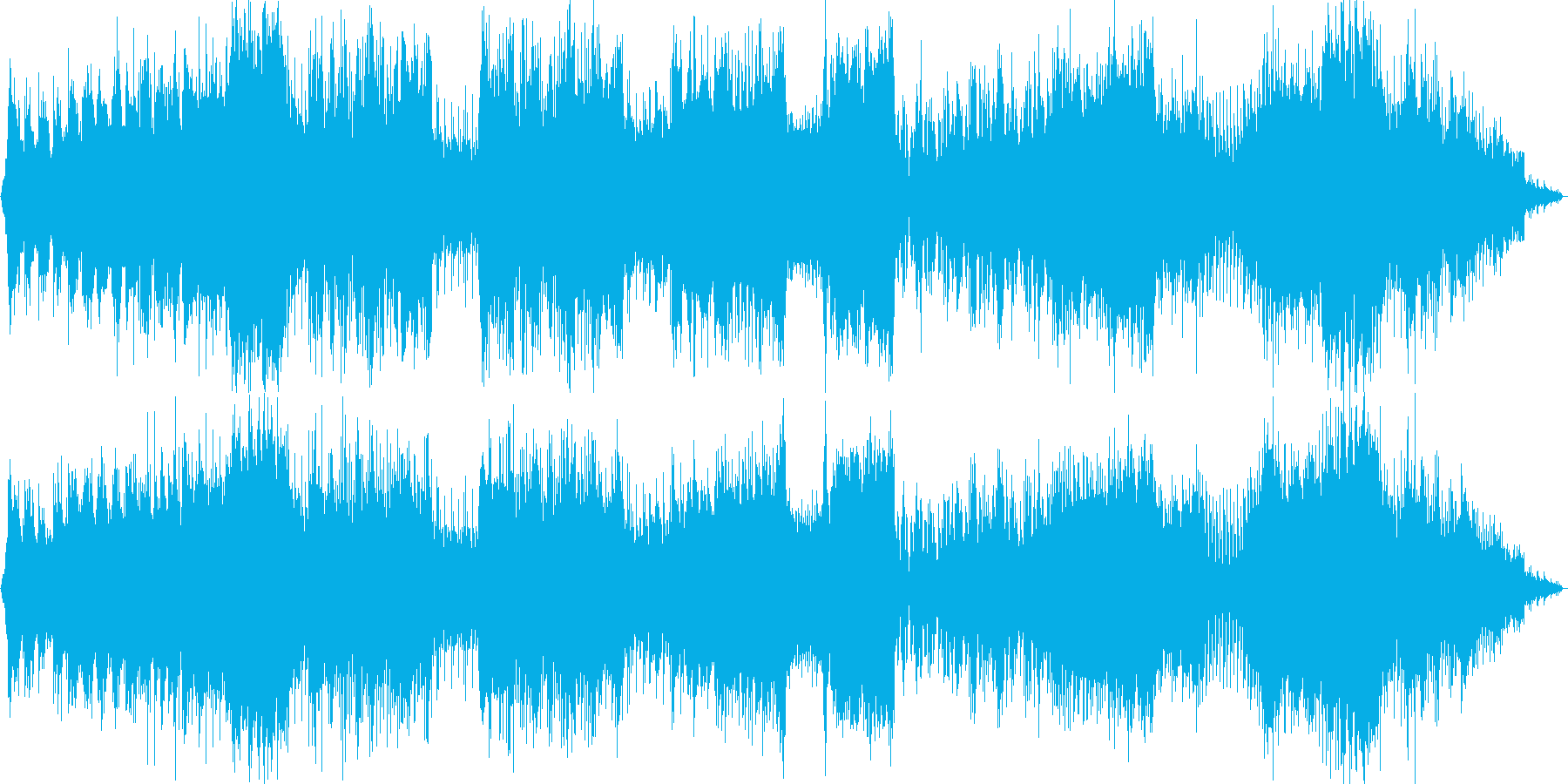 PRGの戦闘用BGMですの再生済みの波形