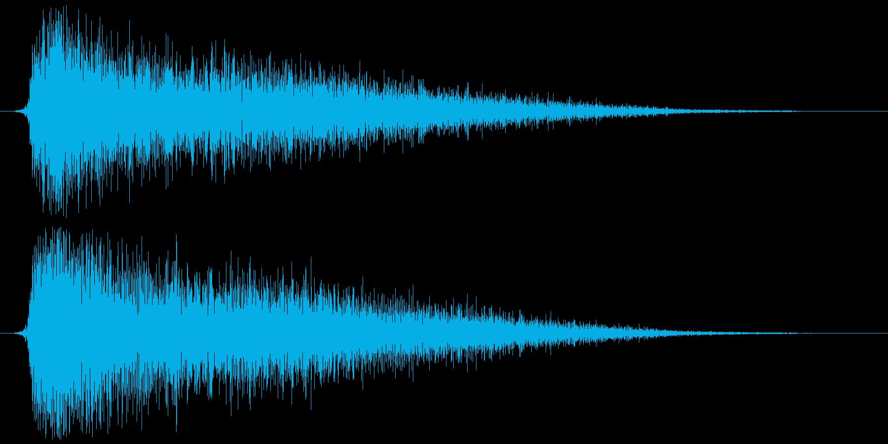 蒸発、蒸気  ジュワーッの再生済みの波形