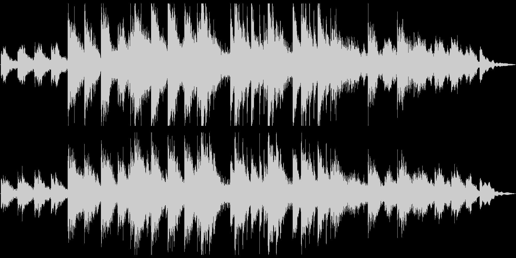 悲しく重々しいホラーやサスペンス風ピアノの未再生の波形