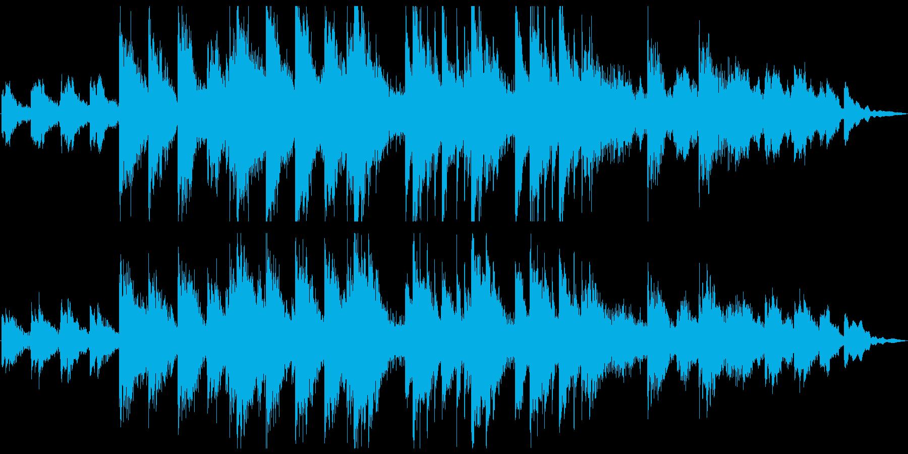 悲しく重々しいホラーやサスペンス風ピアノの再生済みの波形