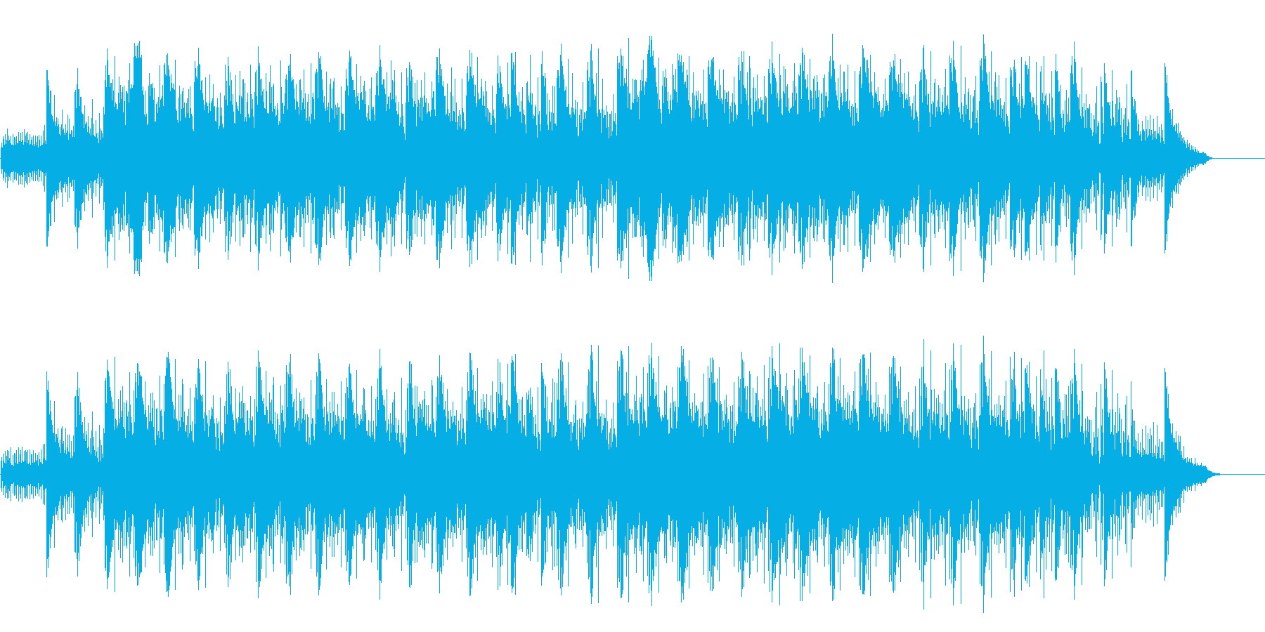 無限な空間の広がりを感じる透明なポップの再生済みの波形