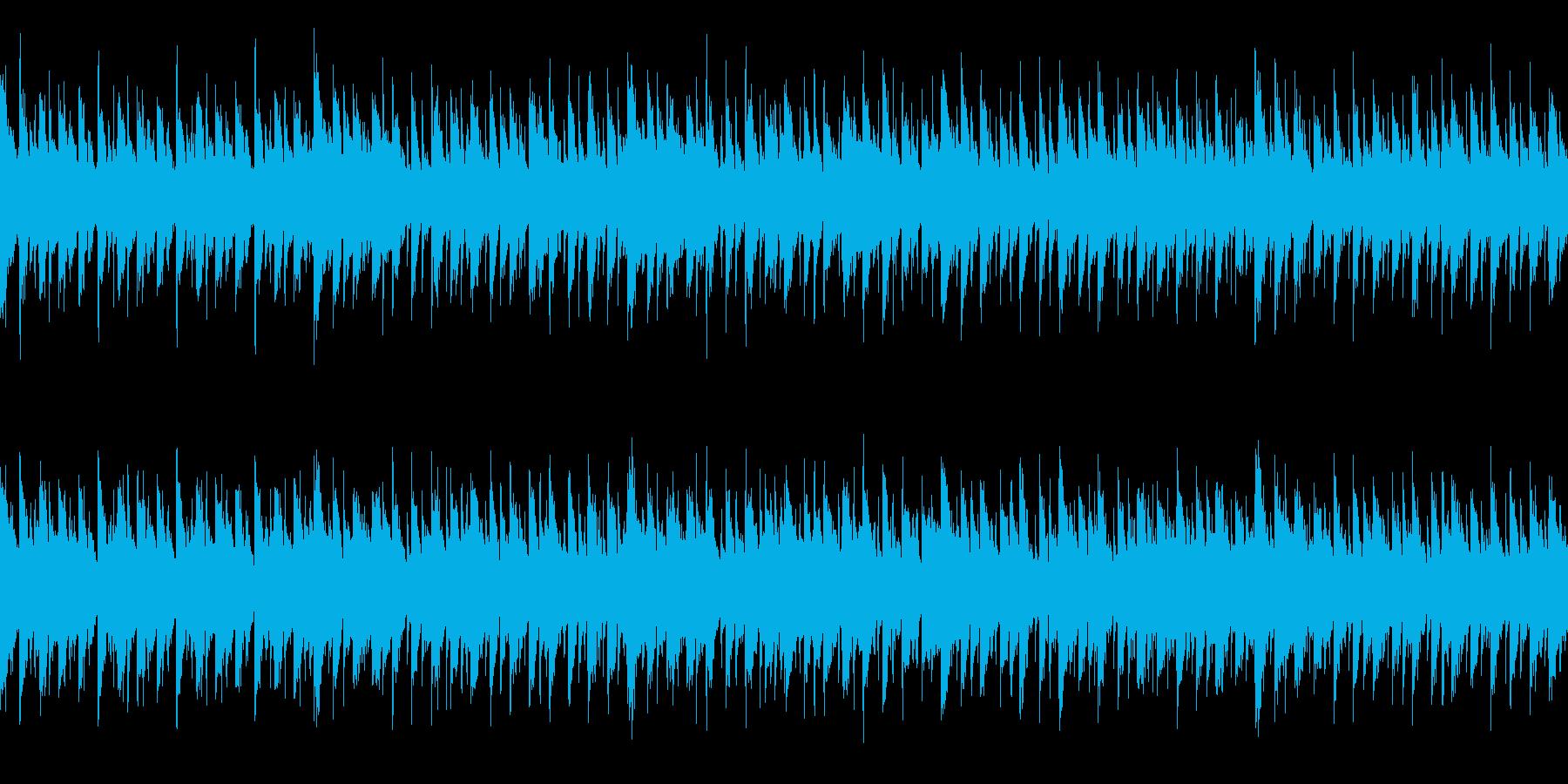 ハウス系楽曲(ループ仕様)の再生済みの波形