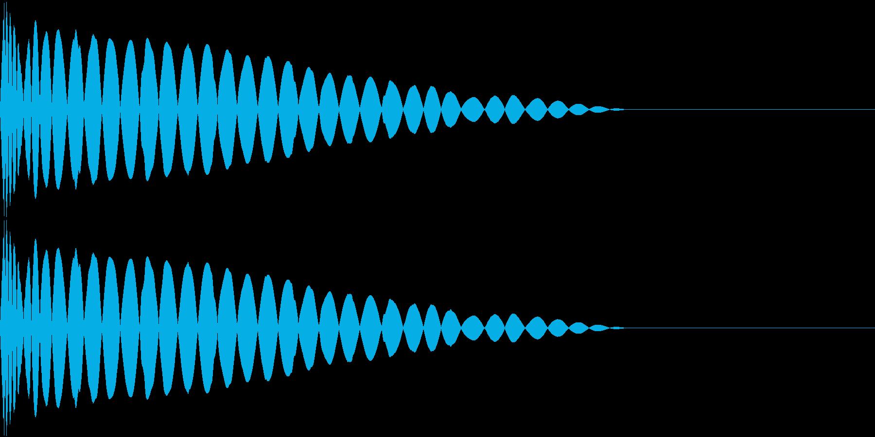 DTM Kick 93 オリジナル音源の再生済みの波形