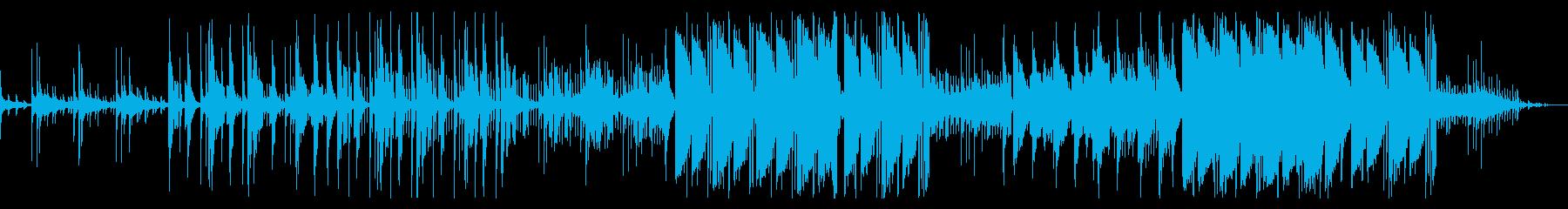 重々しいビートのトラップの再生済みの波形