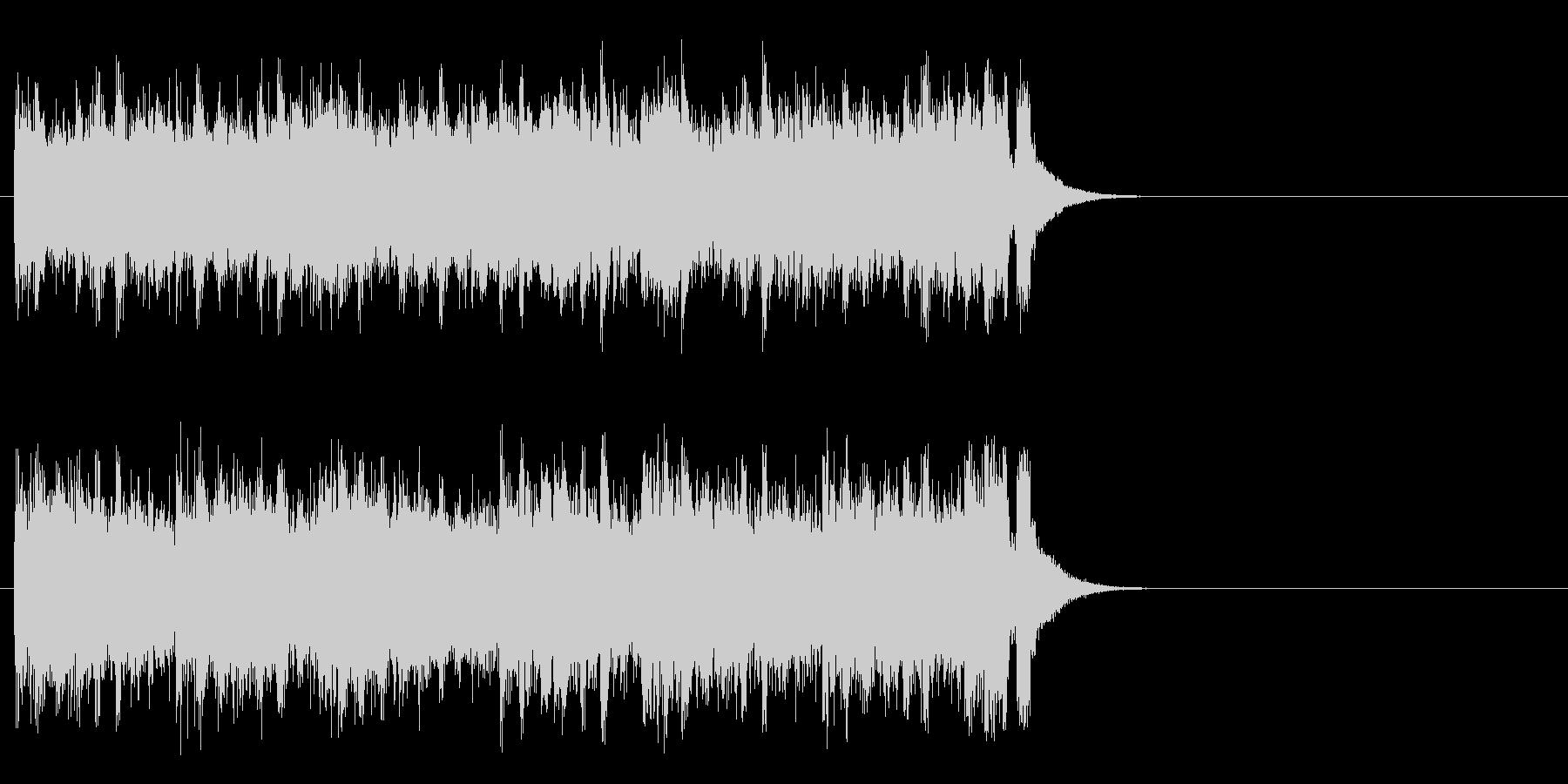 軽妙なファンク ポップ(サビ)の未再生の波形