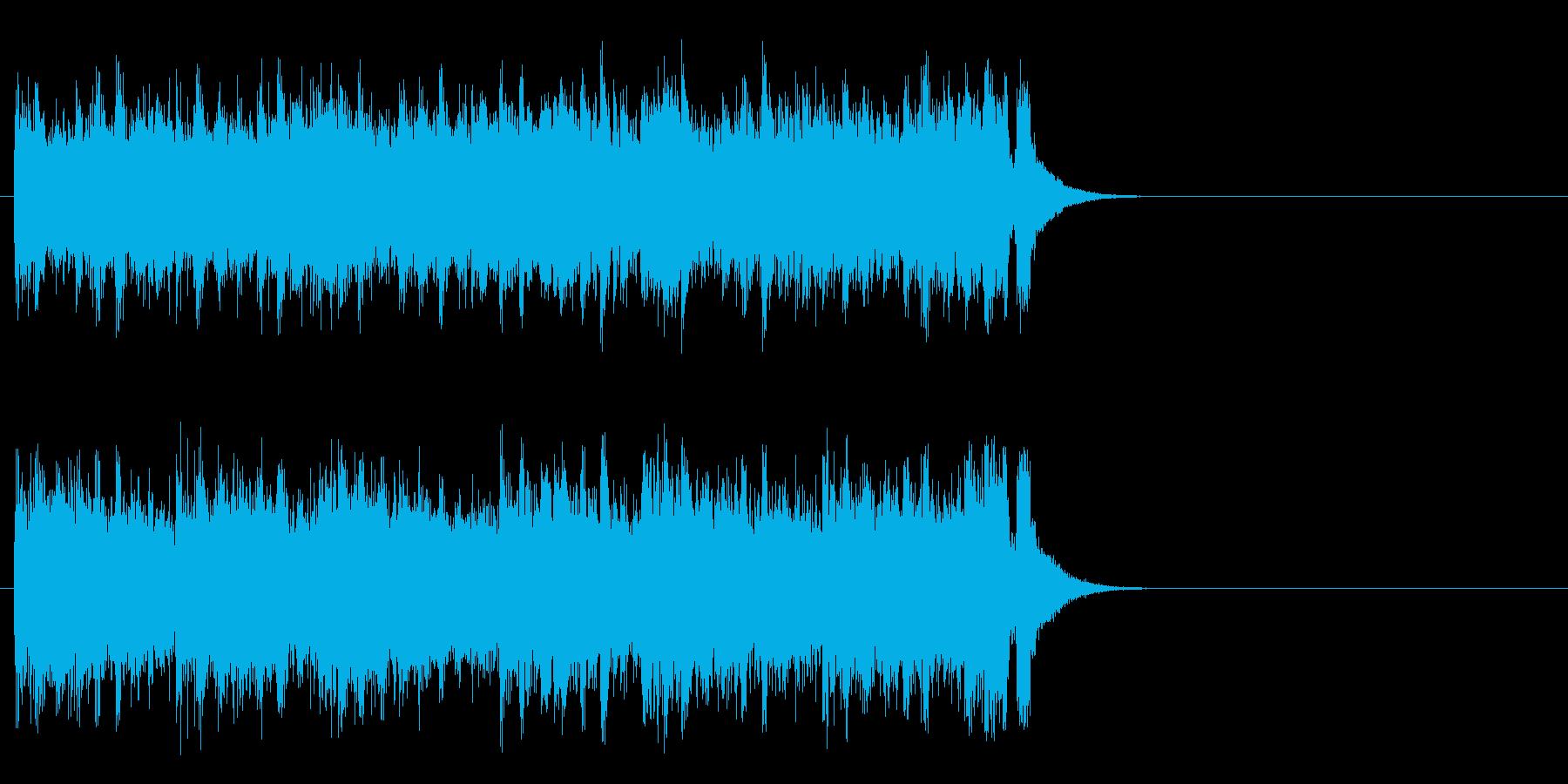 軽妙なファンク ポップ(サビ)の再生済みの波形