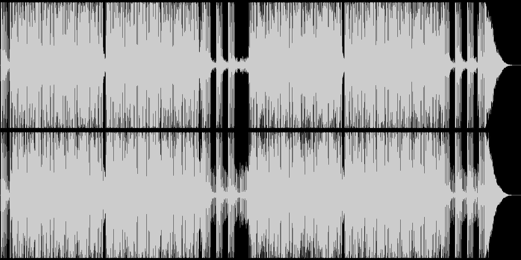 騒がしいロックンロール メロ・ブラスなしの未再生の波形