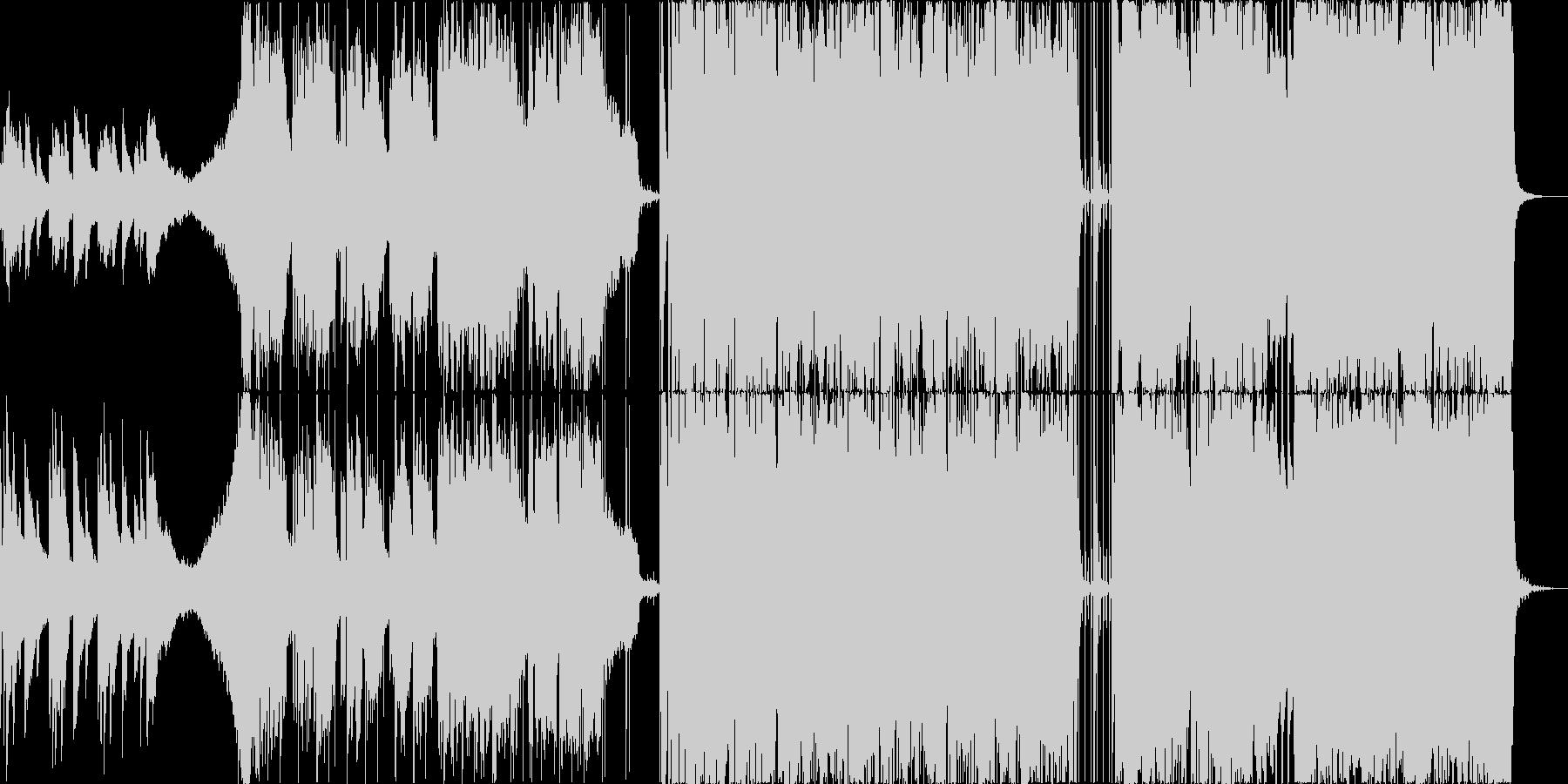 ED,クライマックスなどに、儚く力強い曲の未再生の波形