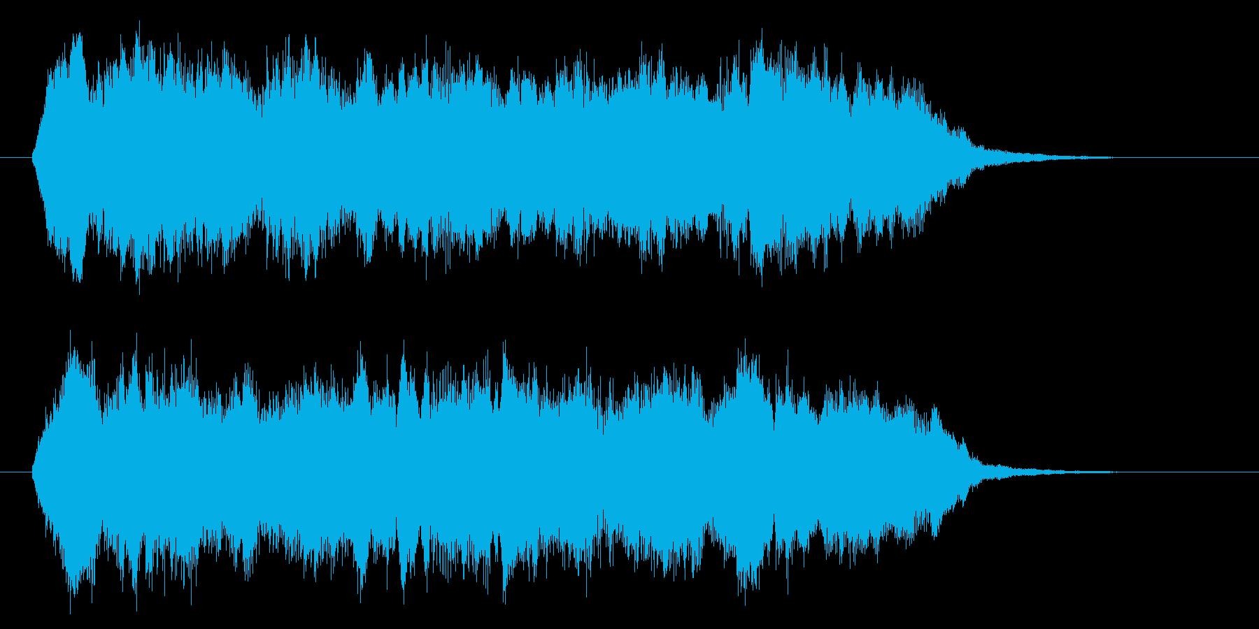 ストリングスの哀愁のあるジングルの再生済みの波形
