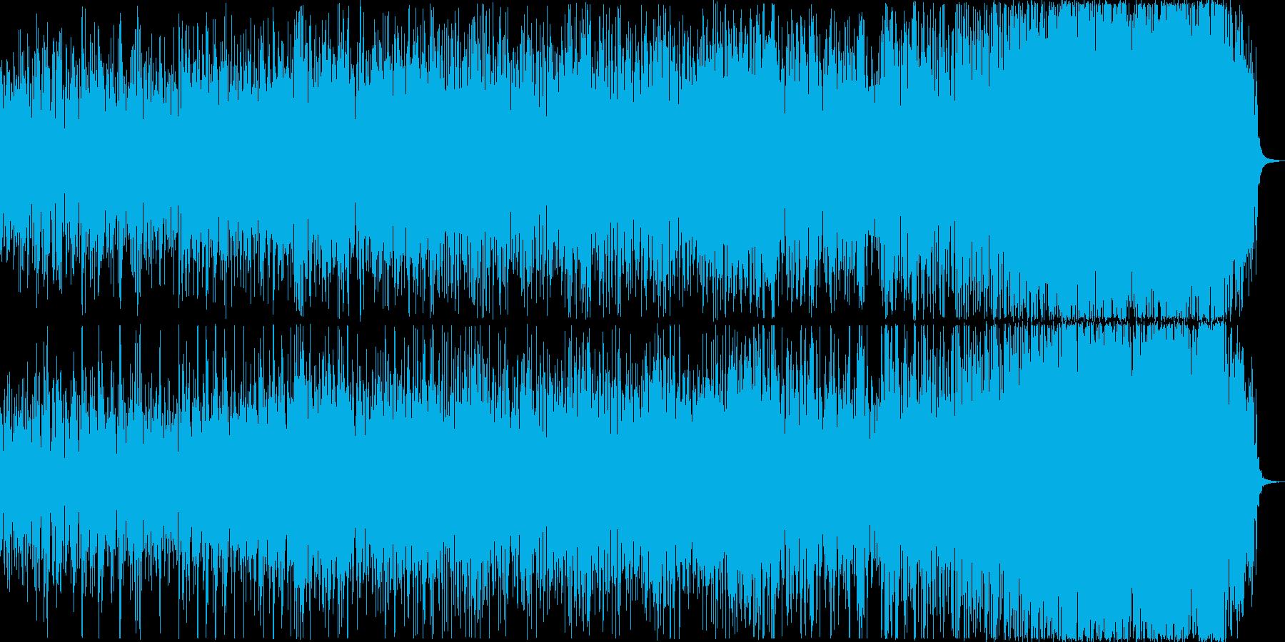 未知の世界へ冒険するイメージのBGMの再生済みの波形