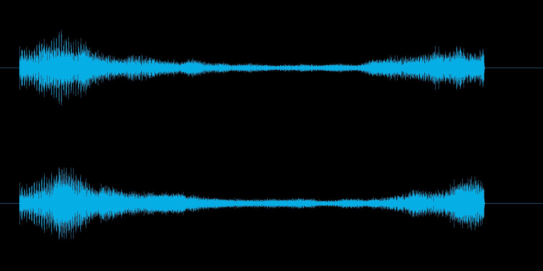 緊張感が残るピアノのジングルAの再生済みの波形