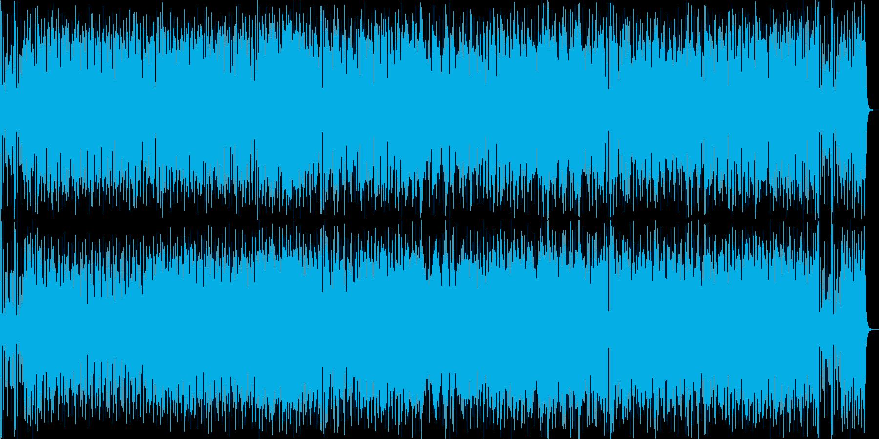 快適なカフェミュージックの再生済みの波形