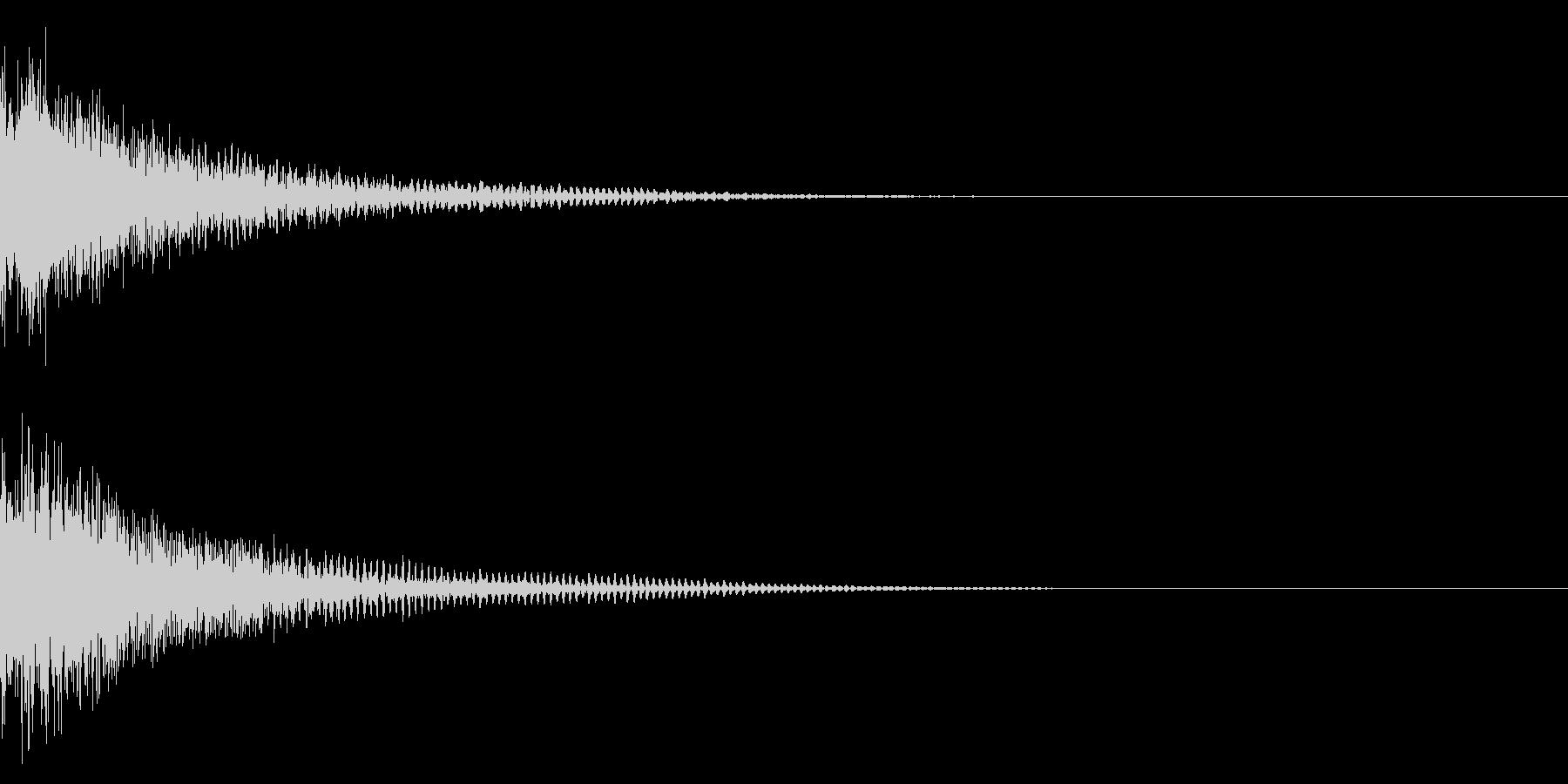 ジャン/クイズ/出題/ヒットの未再生の波形