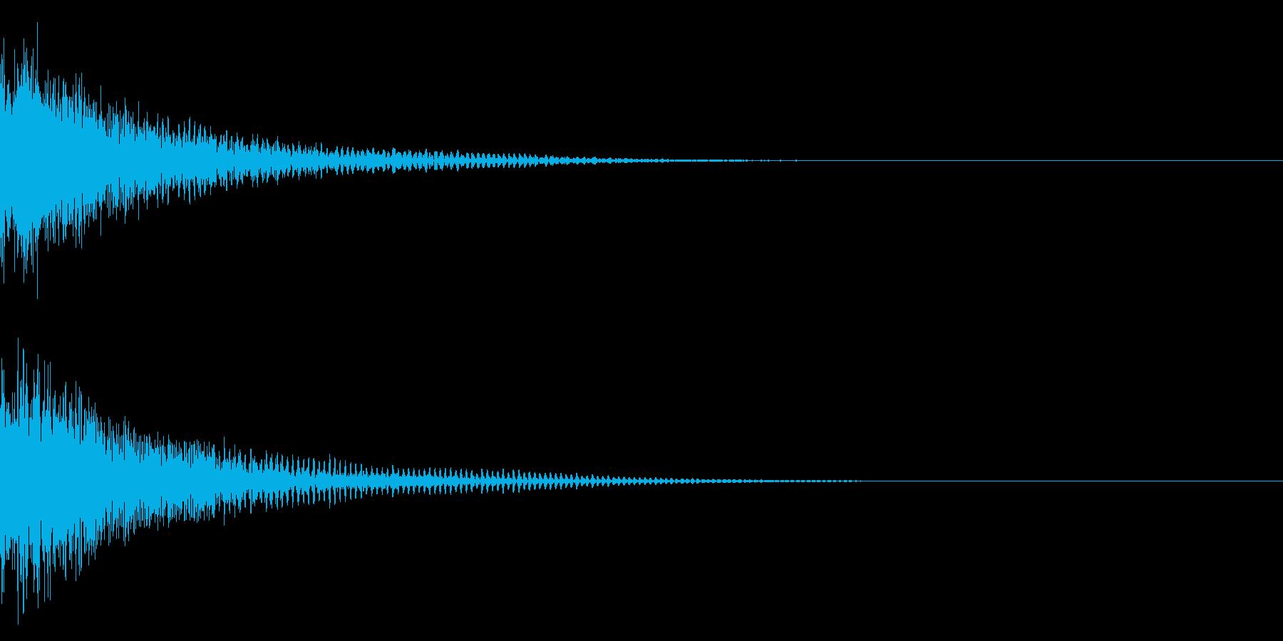ジャン/クイズ/出題/ヒットの再生済みの波形