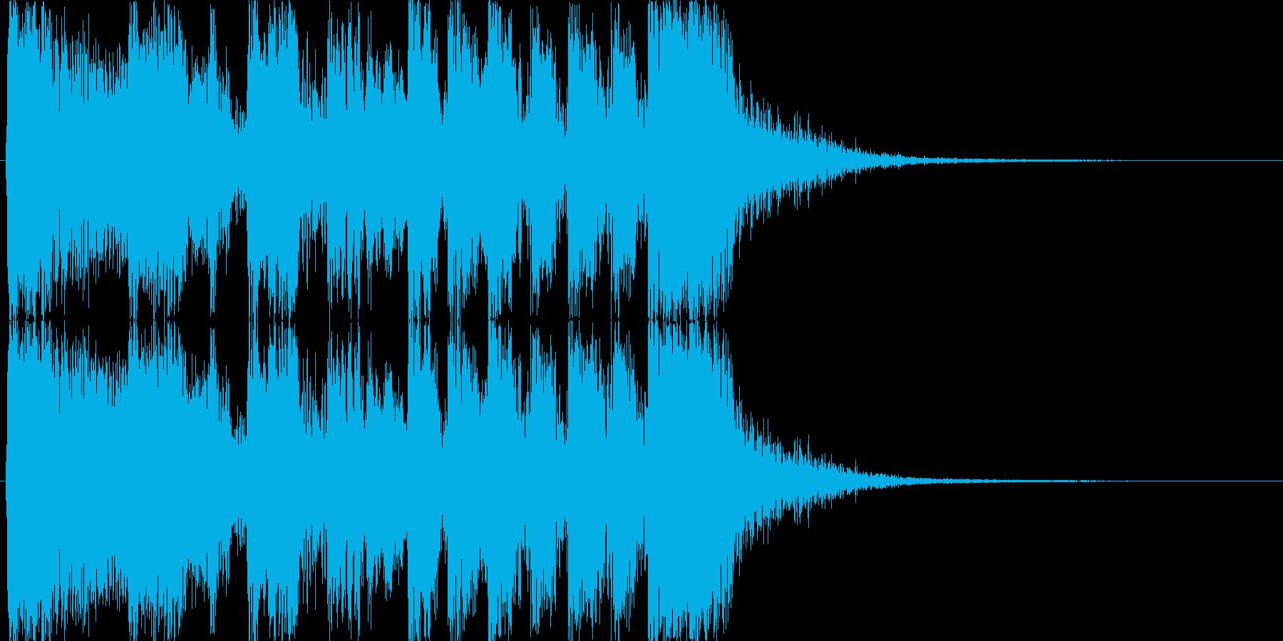 アニメのアイキャッチ風ジングルの再生済みの波形