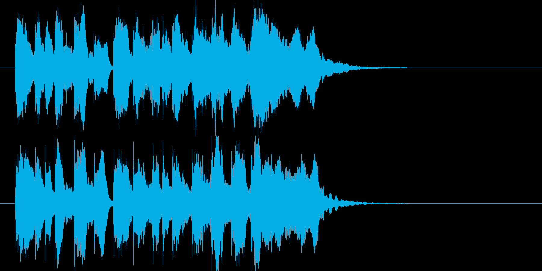 お菓子CMや小さい動物映像ジングル J7の再生済みの波形