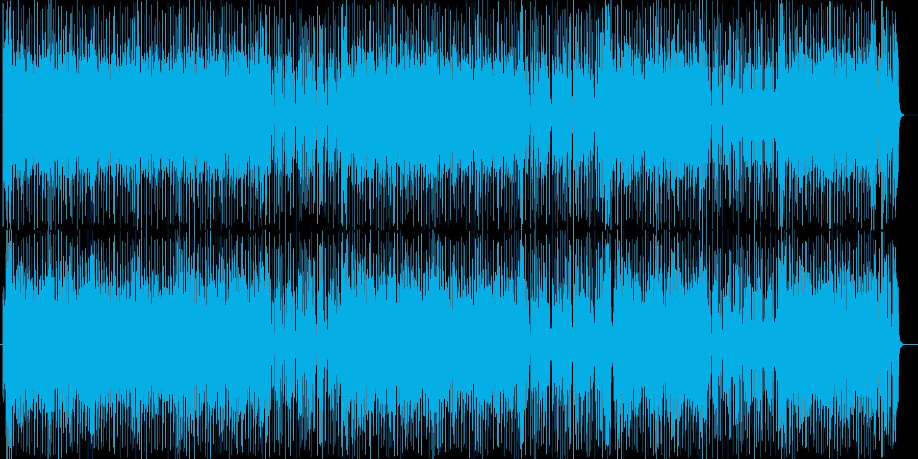 シンセサイザーのオープニングテーマ曲の再生済みの波形