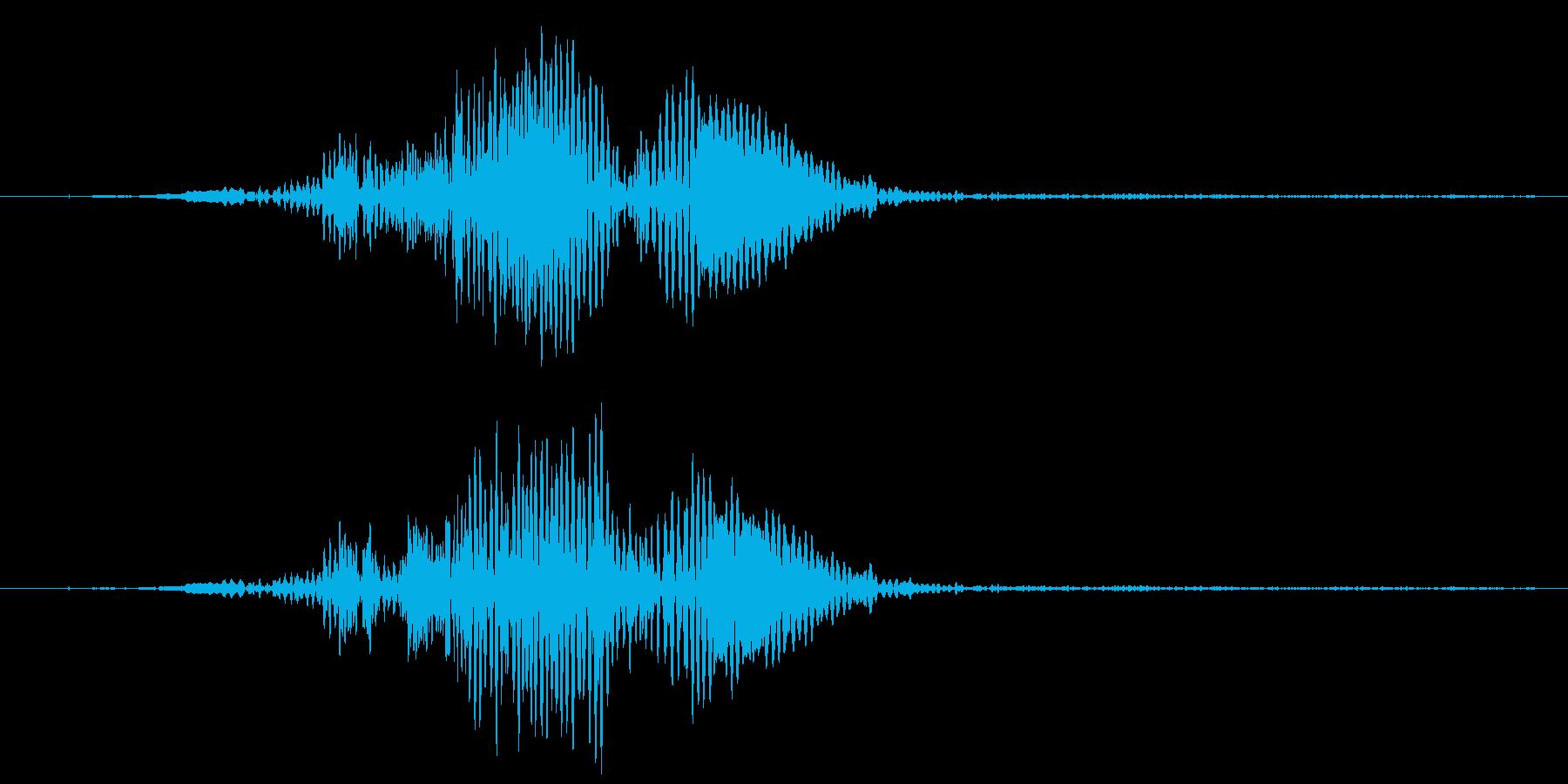 剣の素振り(大剣を振る)の再生済みの波形